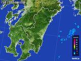 2016年12月12日の宮崎県の雨雲の動き