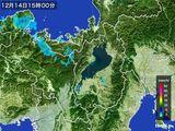 2016年12月14日の滋賀県の雨雲レーダー