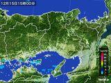 2016年12月15日の兵庫県の雨雲レーダー