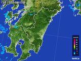 2016年12月15日の宮崎県の雨雲の動き
