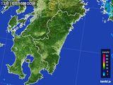 2016年12月16日の宮崎県の雨雲の動き