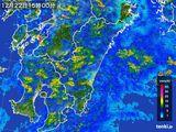 2016年12月22日の宮崎県の雨雲の動き