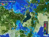 2016年12月23日の滋賀県の雨雲レーダー