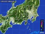 雨雲レーダー(2016年12月25日)