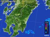 2016年12月25日の宮崎県の雨雲の動き