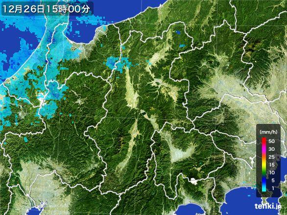 長野県の雨雲レーダー(2016年12月26日)
