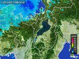 2016年12月26日の滋賀県の雨雲レーダー