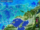 2016年12月26日の兵庫県の雨雲レーダー