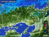 2016年12月29日の兵庫県の雨雲レーダー