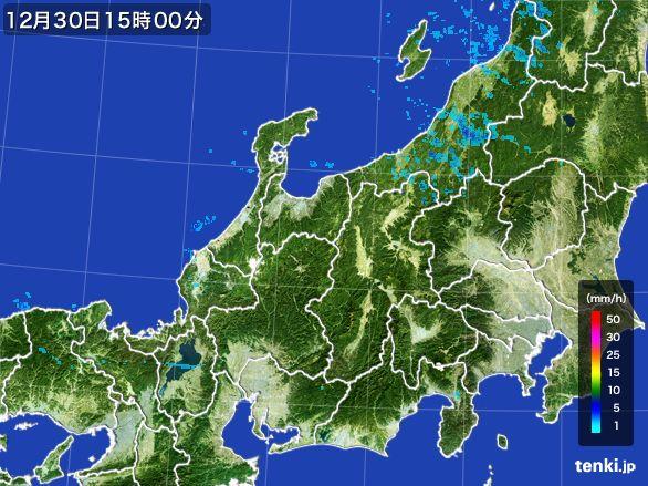 北陸地方の雨雲レーダー(2016年12月30日)