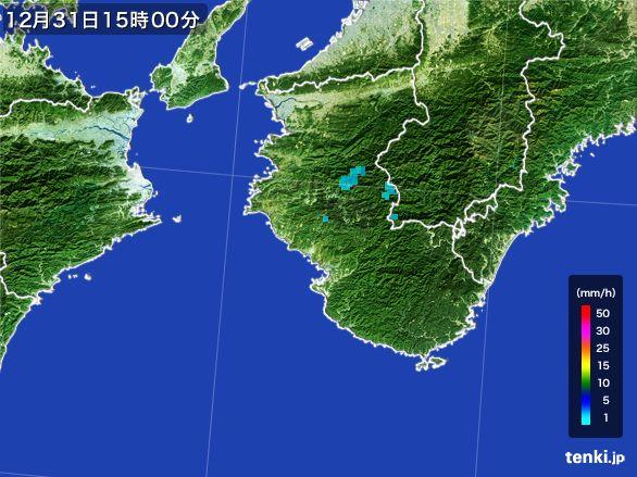 和歌山県の雨雲レーダー(2016年12月31日)