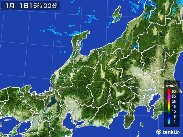 北陸地方の雨雲レーダー(2017年01月01日)