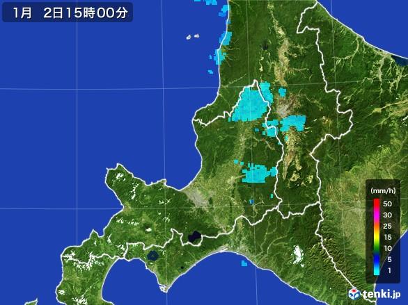 道央の雨雲の動き(2017年01月02日)