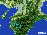 2017年01月02日の奈良県の雨雲レーダー