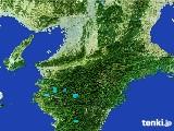2017年01月10日の奈良県の雨雲レーダー