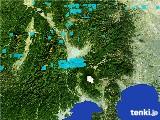 2017年01月11日の山梨県の雨雲の動き