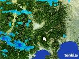 2017年01月13日の山梨県の雨雲の動き