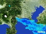 2017年01月14日の神奈川県の雨雲の動き
