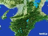 2017年01月16日の奈良県の雨雲レーダー