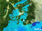 2017年01月20日の山梨県の雨雲の動き