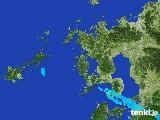 2017年01月25日の長崎県の雨雲レーダー