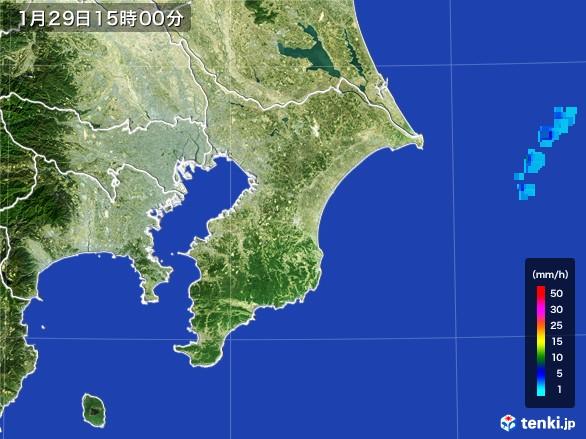 千葉県の雨雲レーダー(2017年01月29日)