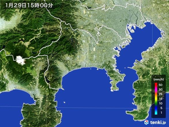 神奈川県の雨雲レーダー(2017年01月29日)
