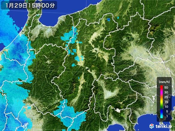長野県の雨雲レーダー(2017年01月29日)