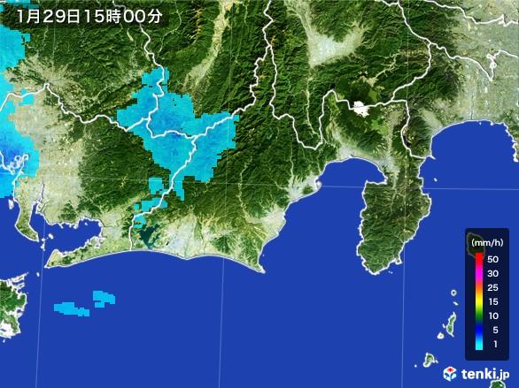 静岡県の雨雲レーダー(2017年01月29日)