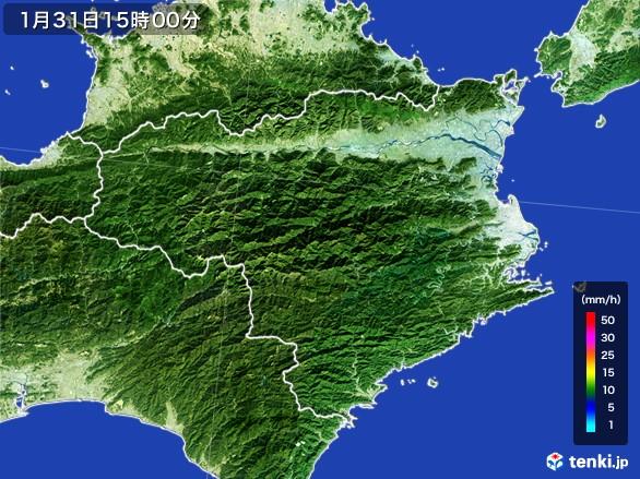 徳島県の雨雲レーダー(2017年01月31日)