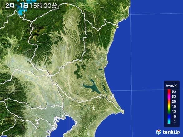 茨城県の雨雲レーダー(2017年02月01日)