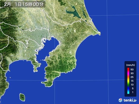千葉県の雨雲レーダー(2017年02月01日)
