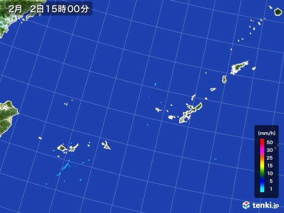 沖縄地方の雨雲レーダー(2017年02月02日)