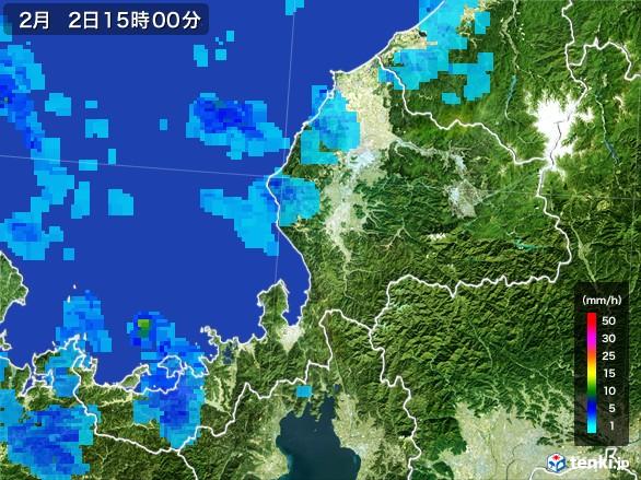 福井県の雨雲レーダー(2017年02月02日)