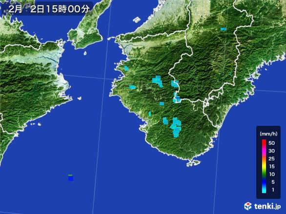 和歌山県の雨雲レーダー(2017年02月02日)