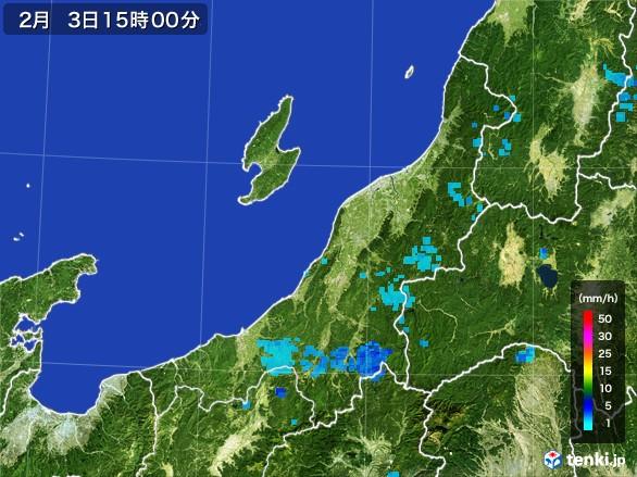 新潟県の雨雲レーダー(2017年02月03日)