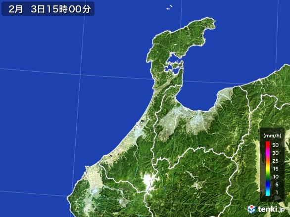 石川県の雨雲レーダー(2017年02月03日)