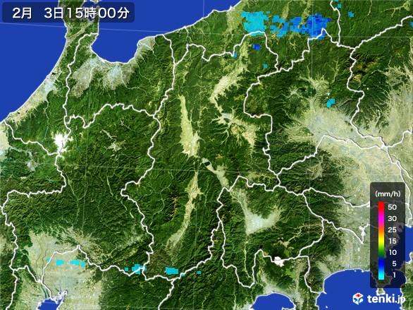 長野県の雨雲レーダー(2017年02月03日)