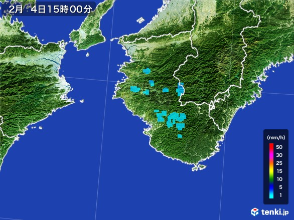和歌山県の雨雲レーダー(2017年02月04日)