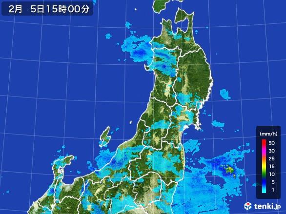東北地方の雨雲レーダー(2017年02月05日)