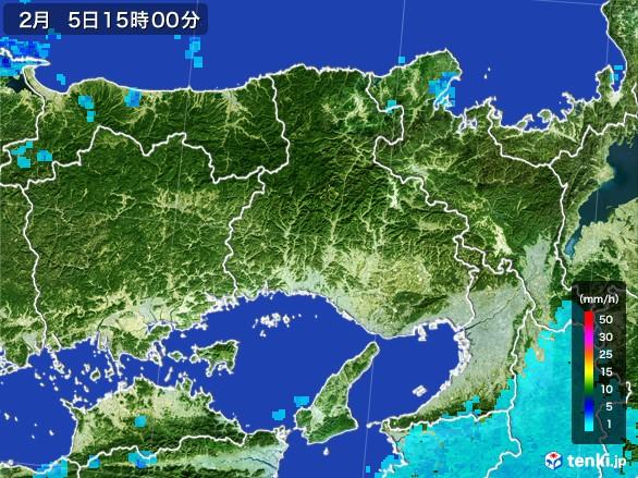 兵庫県の雨雲レーダー(2017年02月05日)