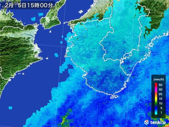 和歌山県の雨雲レーダー(2017年02月05日)