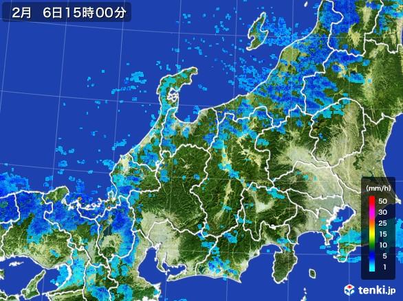 北陸地方の雨雲レーダー(2017年02月06日)