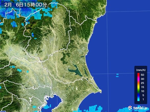 茨城県の雨雲レーダー(2017年02月06日)