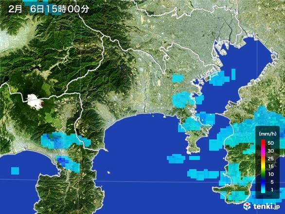 神奈川県の雨雲レーダー(2017年02月06日)