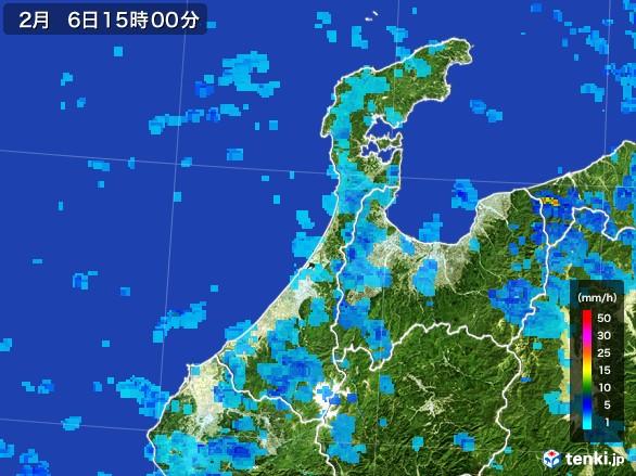 石川県の雨雲レーダー(2017年02月06日)