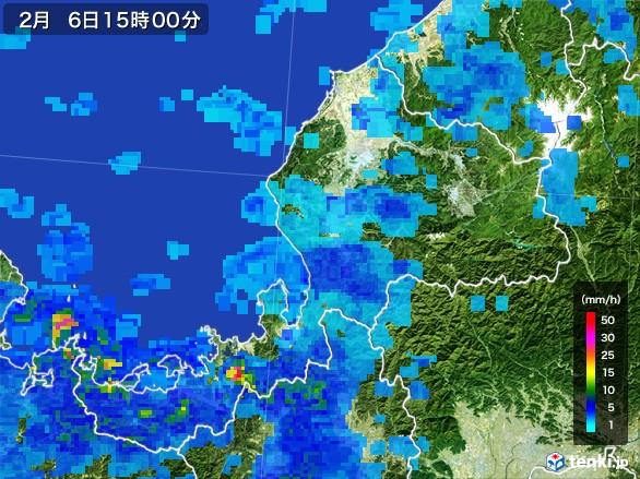福井県の雨雲レーダー(2017年02月06日)