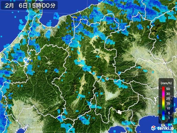 長野県の雨雲レーダー(2017年02月06日)