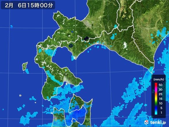 道南の雨雲レーダー(2017年02月06日)