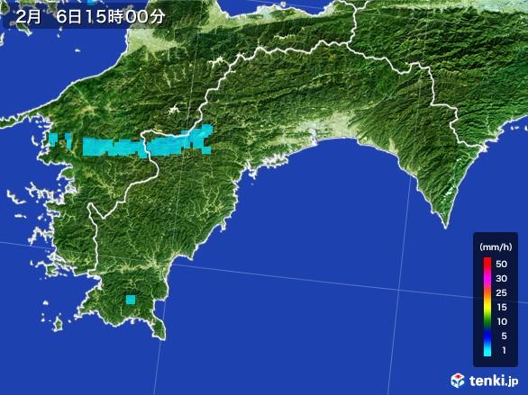 高知県の雨雲レーダー(2017年02月06日)